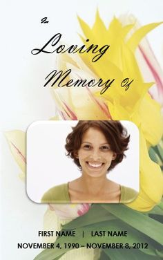 Memorial Bulletins for Funerals