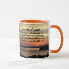 Serenity Prayer Seascape Sunset Photo Coffee Mug