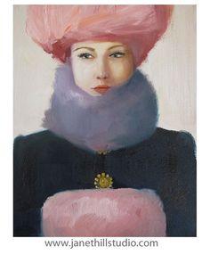 Pink Amethyst. Original Oil Painting by janethillstudio on Etsy