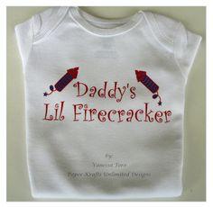 My First 4th of July Onesie, Patriotic Onesie, Lil Firecracker Baby Onesie