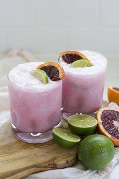 Coconut Blood Orange Margaritas - Freutcake