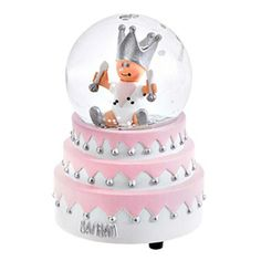 Pink Musical Snow Globe By BAMBAM A beautiful and unique new baby or christening gift. This snow globe is beautifully designed as a three...