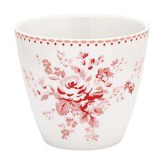 GreenGate Stoneware Latte Cup 'Abelone', Raspberry