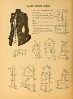 Ladies Street Jacket Pattern, 1880s