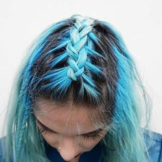 Blue braid  / #thecraft #louteasdale #braids #bluehair #hairinspo