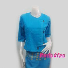 เสื้อผ้าฝ้ายสีฟ้าแขนสามส่วน เสื้อผ้าฝ้ายแขนสามส่วน เสื้อทำงาน เสื้อผ้าฝ้ายสีฟ้ากระดุมไม้ สินค้ามีพร้อมส่งจัดส่งสินค้าทุกวัน PRODUCT ID: TOP 0704-XL Pr...