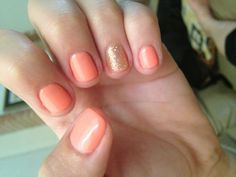 Summer nails ~ pretty coral