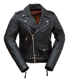 Look at this #zulilyfind! Black Classic Rocker Leather Jacket #zulilyfinds
