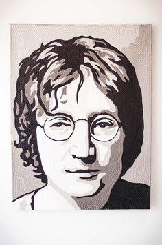 BLACK AND WHITE JOHN LENNON John Lennon, Black And White, Artwork, Work Of Art, Black N White, Auguste Rodin Artwork, Black White, Artworks, Illustrators