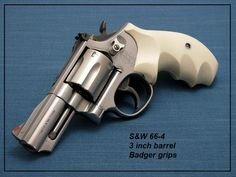 S&W 66-4 3 INCH BARREL WITH BADGER GRIPS