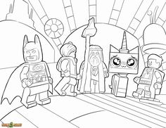 The LEGO Movie Coloring Page, LEGO Wyldstyle, Emmet ...