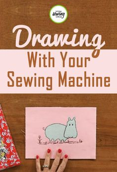 If you like using your creative side when sewing, free motion drawing is a great project for you! Jackie Pacitti discusses drawing with your sewing machine and showcases some of her own sewing designs in this video. She provides step-by-step instructions Dress Sewing Tutorials, Sewing Hacks, Sewing Crafts, Sewing Tips, Sewing Ideas, Basic Sewing, Sewing Art, Sewing Basics, Sewing Patterns Free