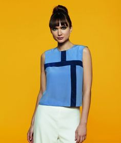 1960's Sewing - Sewing Bee Colour Block Top