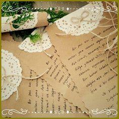 Brown paper invitation