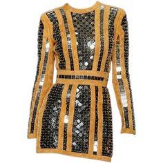 satinee.polyvore.com - Balmain SS 2016 ❤ liked on Polyvore featuring dresses, balmain dress and balmain