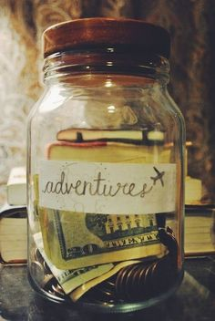 Collect funds for your travels in a simple jar.
