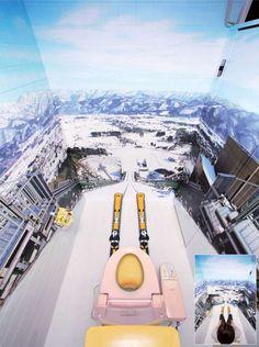 Ski jump Portable Toilet
