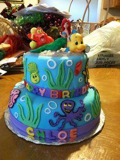Princess Chloe's Little Mermaid Cake!