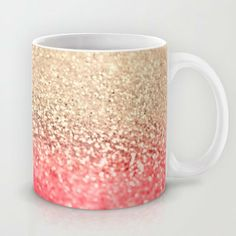 GATSBY CORAL GOLD Mug by Monika Strigel