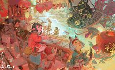 Chinese shadow puppetry by Wenjun Lin Art And Illustration, Character Illustration, Art Inspo, Kunst Inspo, Fantasy Kunst, Fantasy Art, Cartoon Drawings, Art Drawings, Arte Peculiar