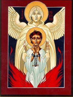Saint Joan of Arc icon by Fr. William McNichols, SJ