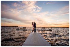Sunset Lake Engagement Photo Shawano WI Engagement - Alison Kundratic Photography