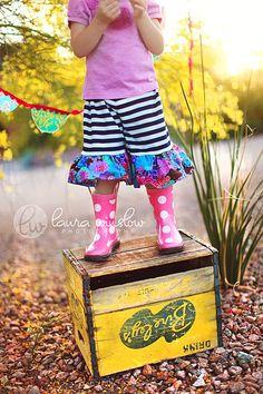 adorable shorts & rain boots