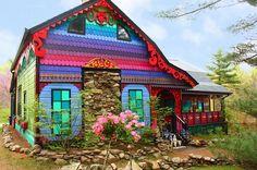 #Colorfull Rengarenk şirin bir ev..