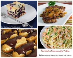 Parade's Community Table ~ 20 Recipes Sure to Make any Mother Feel Special