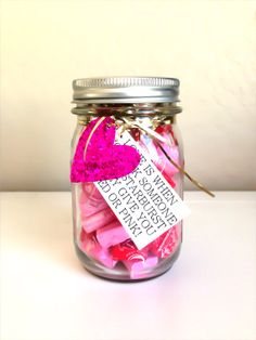 Pink & Red Candy Mason Jar Valentine Kit by TheRoyalBowtiqueShop