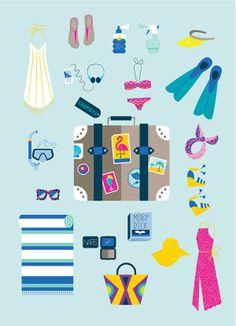 Illustration - Eirian Chapman Let's go to the beach!