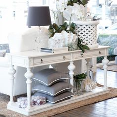 white round french table on grey tiles - Google Search