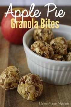 no-bake apple pie granola bites