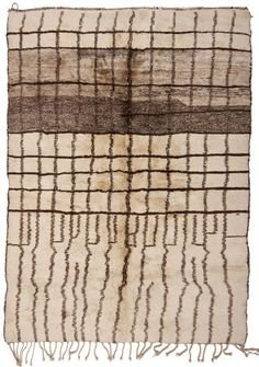"1313-BERBER-RUG-330X250CM: (Thin dark ""pencil"" lines...can I embroider these on before fulling?)"