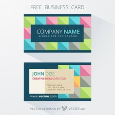Colorful Boxed Business Card Design Free Vector - https://vecree.com/3217690/colorful-boxed-business-card-design-free-vector/