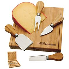 Norwood by BIC Graphic Bamboo Cheese Set is a great giveaway for guests at a shower or wedding!
