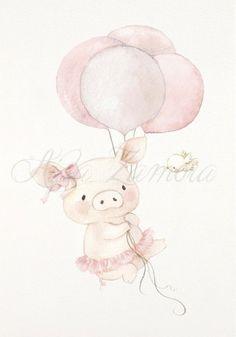 Nursery Drawings, Baby Animal Drawings, Nursery Wall Art, Dibujos Baby Shower, Pig Art, Baby Pigs, Year Of The Pig, Emoji Wallpaper, Little Pigs