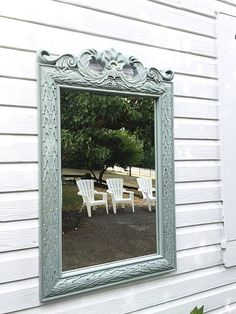 French Blue Wall Mirror Large Decorative Framed Mirrors Country Cottage Decor