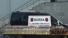 Bursa'nın Gemlik ilçesinde Jandarmanın Durdurduğu Minibüsten 335 Şişe Kaçak İçki Çıktı | Körfez Haber 10