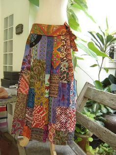 patchwork fisherman pants