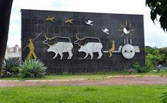 Festas de Carros de Boi: Monumento Carro de Boi de Campo Grande - MS