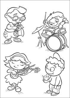 Little Einsteins Fargelegging for barn. Tegninger for utskrift og fargelegging nº 40