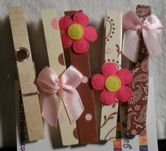 Decorative clothespins