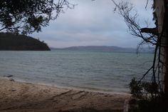 On the beach at Tasman Peninsula Lime Bay Campground - 15 février 2015
