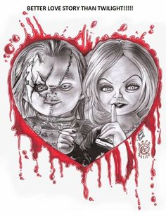 Find images and videos about tiffany, horror movie and Chucky on We Heart It - the app to get lost i Horror Movie Characters, Horror Movies, Horror Movie Tattoos, Chucky Drawing, Chucky Tattoo, Childs Play Chucky, Bride Of Chucky, Horror Artwork, Horror Icons