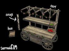 SurrealiSIM Sims 2 downloads: Potion seller set