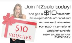 Get a $10 voucher when you sign up with NZsale!