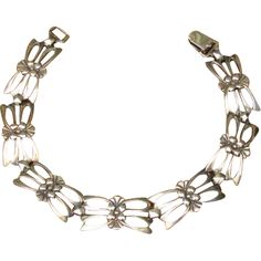 Vintage Symmetalic Sterling Silver Gold Vermeil Butterfly Bracelet