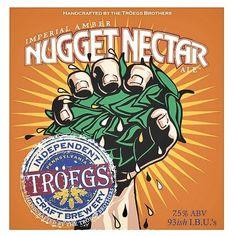 Cerveja Nugget Nectar, estilo American Amber Ale, produzida por Tröegs Brewing Company, Estados Unidos. 7.5% ABV de álcool.