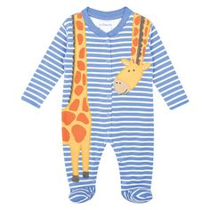 Giraffe Appliqué Baby Sleepsuit, Baby Sleepsuits and Bodies, Baby Clothes